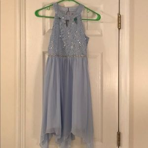 Other - Sequin Blue flowing dress